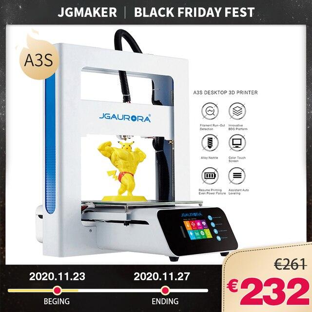 JGMAKER A3S 3D Drucker Aktualisiert Mit SD Karte Drucken Schiff von Fabrik Direkt oder CZ/Deutschland/Russland Lager JGAURORA