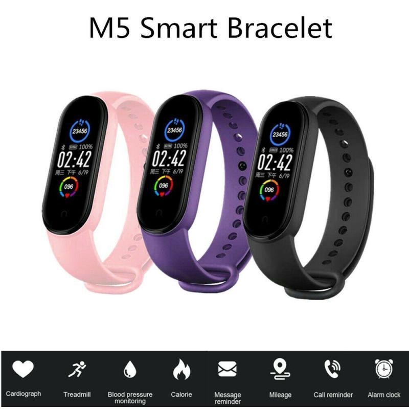 Фитнес трекер M5 для мужчин и женщин, спортивные умные часы, браслет с пульсометром, тонометром, фитнес браслет с Bluetooth, умный Браслет|Фитнес-трекеры|   | АлиЭкспресс