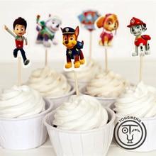 24 штуки в комплекте с героями мультфильма «Щенячий патруль», фруктовые карты, вставные товары для детского дня рождения, 2p01