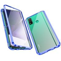 Funda de adsorción magnética para Huawei P Smart 2020, 2021, 360, protección de cuerpo completo, funda de vidrio templado de doble cara