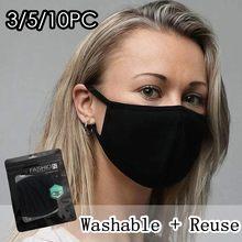 1/3/5/10 pçs pm2.5 1pc reutilizável lavável algodão boca máscaras de rosto capa boca reutilizável máscaras de tecido mascarilla