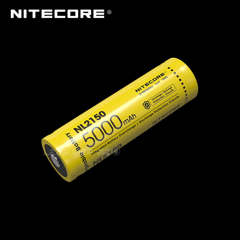 Nitecore NL2150 Next Generation Rechargeable Li-ion 21700 Battery 5000 MAh With CE & ROHS Certifications