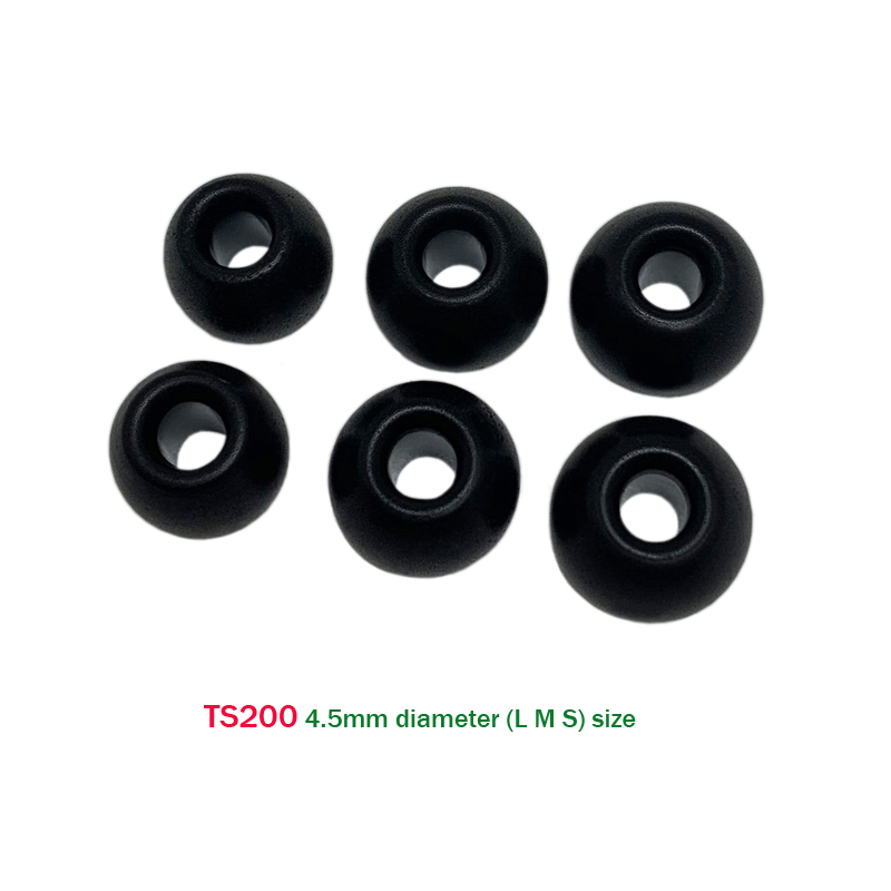 ANJIRUI Ear Pads TS-200 4.5mm (L M S) Height 7mm For 4.5mm-5.5mm TWS Memory Cotton Earplugs Headset Noise Isolation Ear Cotton