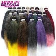 MirraS ayna ön gerilmiş örgü saç Ez örgü saç sentetik tığ örgü örgü saç saç ekleme