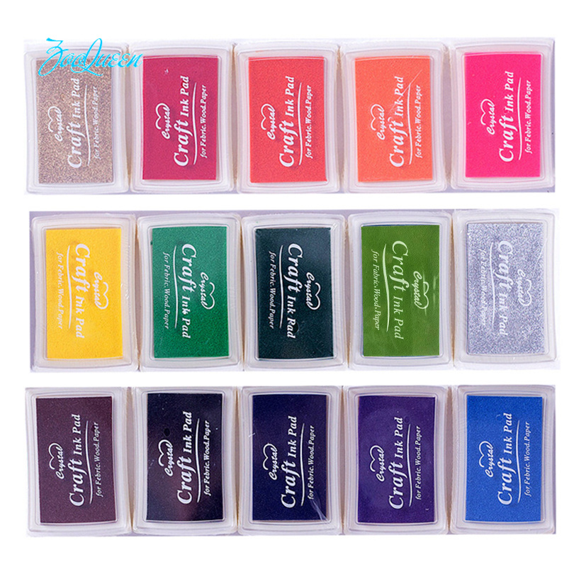 Creative DIY BIG Ink pad 21 colors Set In Rubber Self Inking Roller Stamps stationery Album for scrapbooking Paper decoration(China)