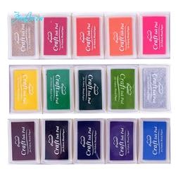 Kreative DIY BIG Tinte pad 21 farben Set In Gummi Selbstfarb Roller Briefmarken schreibwaren Album für scrapbooking Papier dekoration