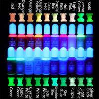 QIAOQIAO DIY 10g/Garrafa Resina UV Brilham no Escuro Pigmento DIY Handmade Artesanato Arte Coloração Dye Corante