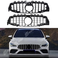 Front Racing Grille Billet Bumper Upper Facelift Grill For Mercedes Benz W118 CLA Class 2020 Black Silver