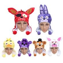 Freddy Toys Cartton Cosplay Cap Freddy Foxy Chica Mangle Bonnie plush Hat Freddy Soft Stuffed Plush Dolls