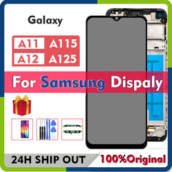 Original For Samsung Galaxy A11 LCD A115F A12 A125 LCD Display With Touch Screen Digitizer Assembly For Samsung A12 LCD Display