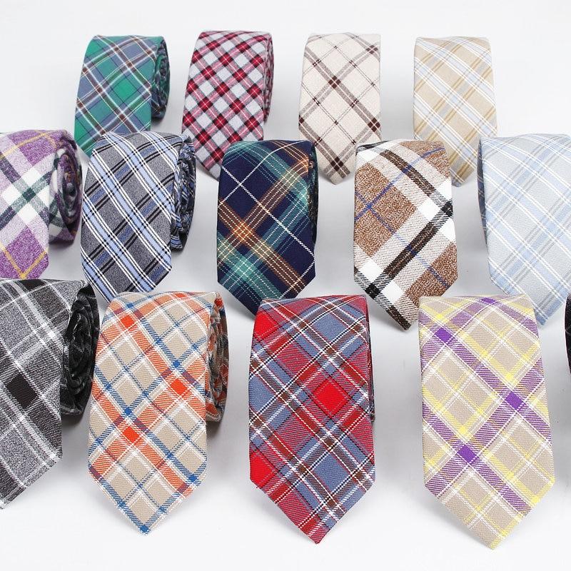 2019 Brand Hot Sale Men's Vintage Plaid Stripe Narrow Neck Tie For Man Wedding Business Casual Red Blue Necktie Bowknot Corbatas