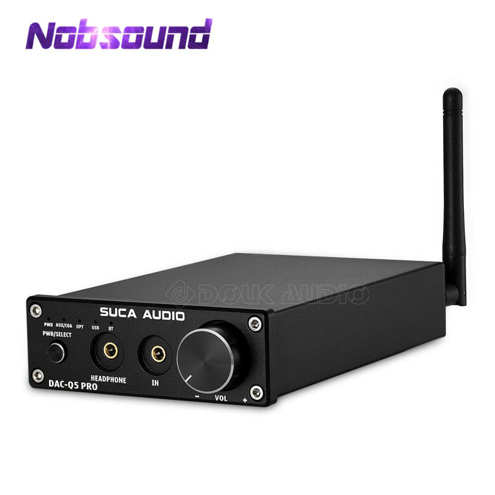 Nobsound Mini Bluetooth 5.0 USB DAC Audio décodeur stéréo HiFi casque amplificateur optique AUX noir/argent