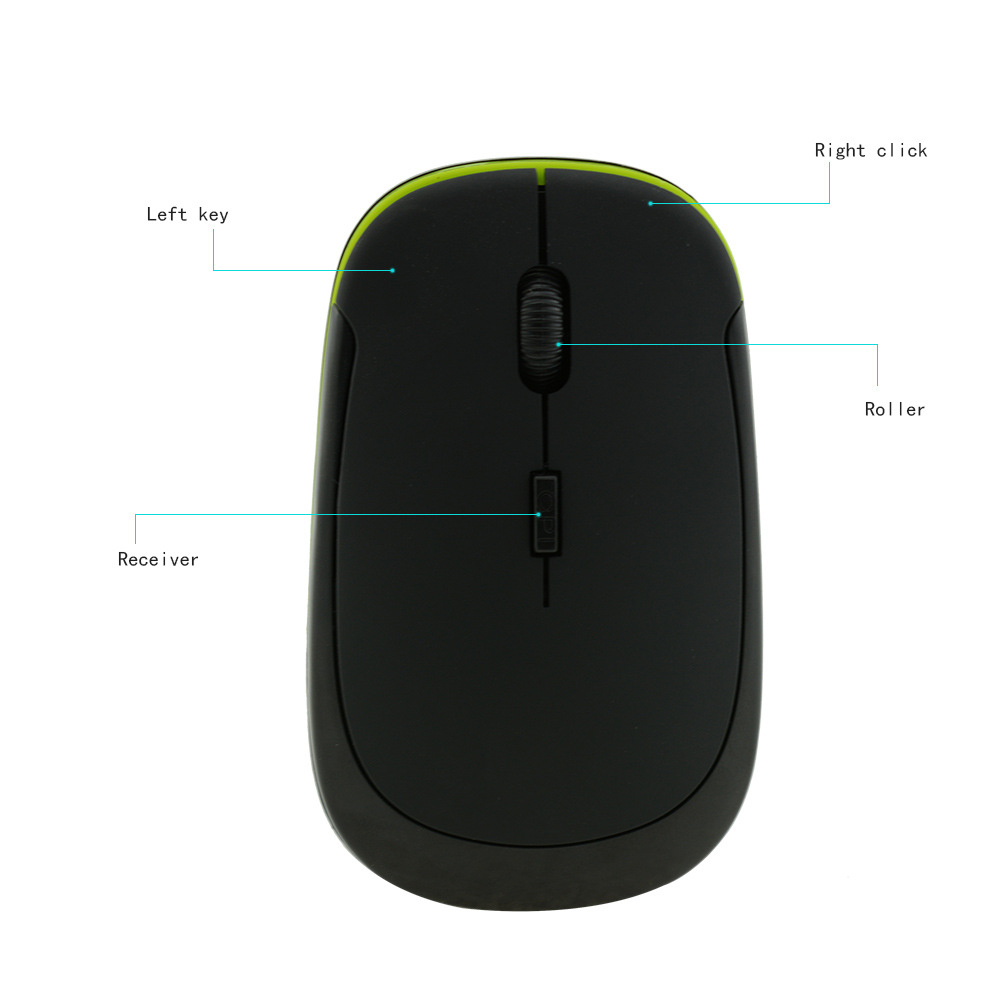 Wireless 2.4G Mouse Optical Gaming Office Mouse with USB Receiver Laptop PC Computer Ergonomic Mause Mice for Dell/Lenovo/ASUS 5