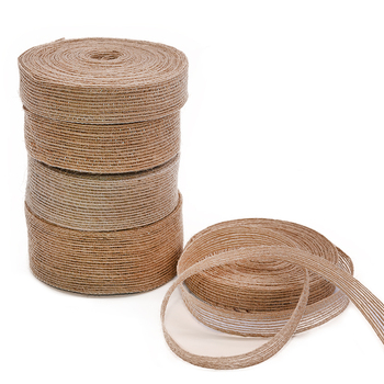 10M 15mm-38mm Natural Vintage Jute Burlap Ribbon DIY Weddings Belt Strap Floristry Birthday Party Christmas Decoration Craft 10m lot 15mm 38mm jute burlap ribbons diy handmade crafts hessian twine rope cords rustic wedding birthday party decoration