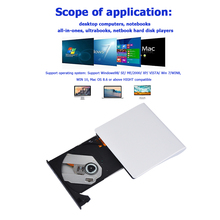 Writer Optical-Drive Windows External Portable Burner CD DVD for Mac OS Laptop Usb-3.0
