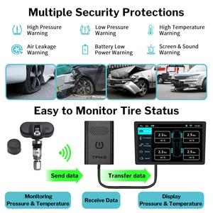Image 5 - Deelife usb tpms androidのカーラジオdvdプレーヤーオートタイヤ監視圧力システム内部外部センサーtmpsアンドロイド