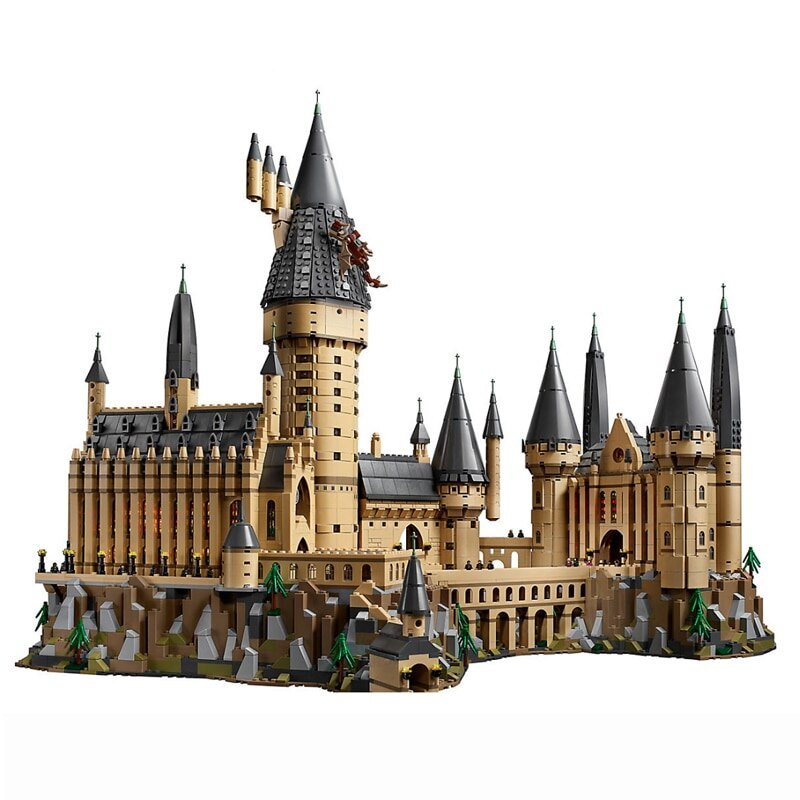 Harri Hogwart Magic Castle Movie Snape Dumbledore Magic School Model 6742Pcs Building Block Bricks Toys For Children Movie