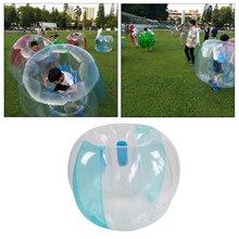 Reinforced PVC Kids Inflatable Bubble Ball Durable Heavy Duty Backyard Bumper Soccer Knocker Bounce  Ball