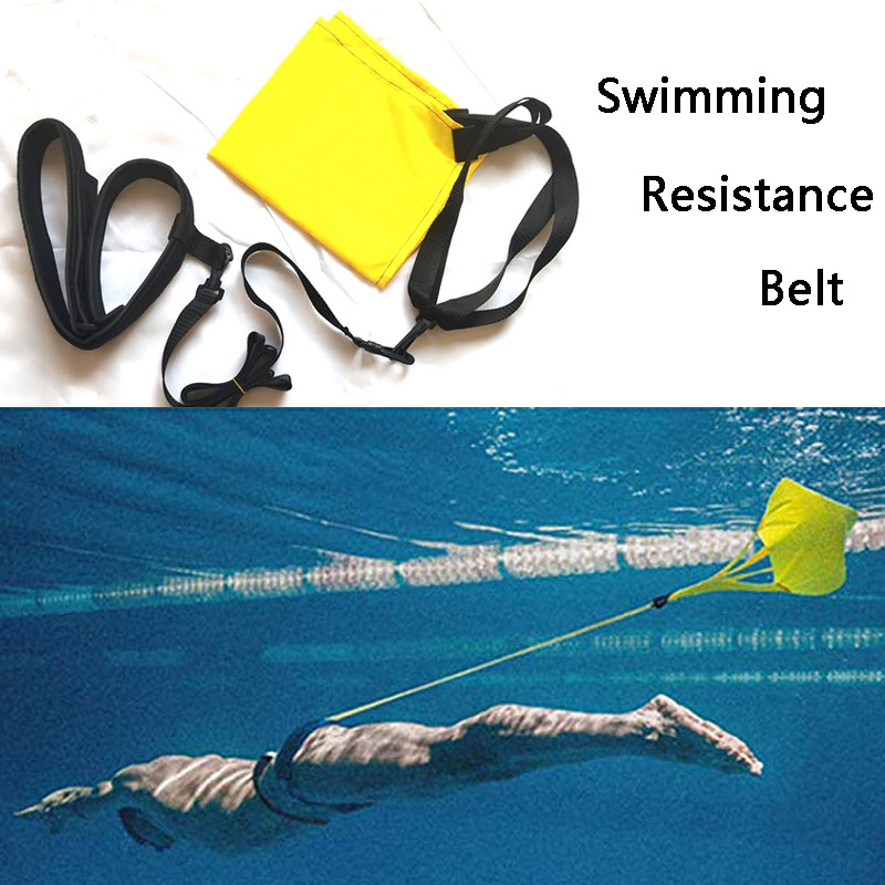Swimming Resistance Belt Drag Parachute And Tether For Resistance Training Swimming Special Strength Training Set With Water Bag