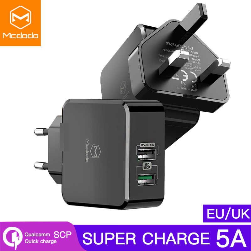 EU/UK Adapter USB Ladegerät 5A Super Schnelle lade Für HUAWEI Mate 20 pro P20 Honor 10 Ladegerät Mobile telefon für iPhone Samsung S9