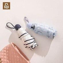 Youpin WD1 50% Fold Zonnebrandcrème Zwart Plastic Paraplu Portable Ultralight Regenachtige Paraplu Waterdicht Winddicht Voor Outdoor