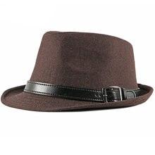 Ht2749 fedoras осенне зимняя шапка для мужчин винтажная шерстяная
