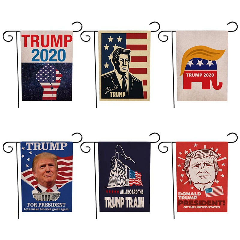Donald <font><b>Trump</b></font> Garden Flag Make America Great Again Donald For <font><b>2020</b></font> President USA Double-sided Printing Without Iron Frame 7*32cm image