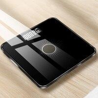 مقياس للجسم الطابق الشمسية الوزن مقياس الذكية الإلكترونية LED الوزن الرقمي الحمام
