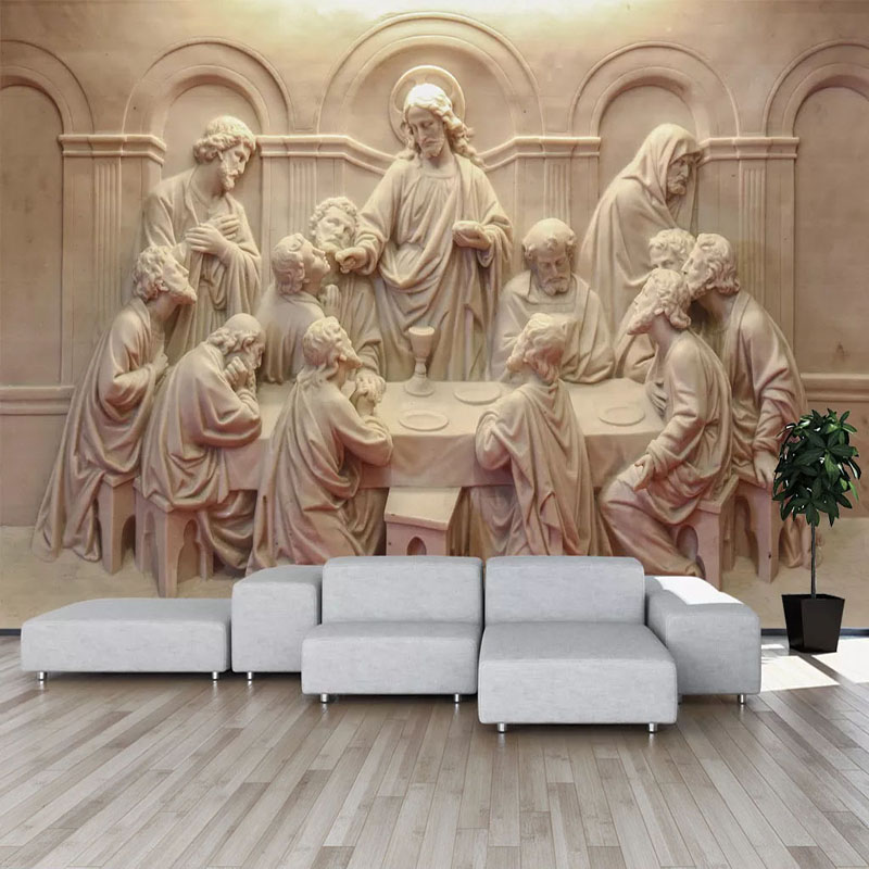 Custom 3D Photo Wallpaper 3D Stereoscopic Retro Sculpture Statue Art Wall Painting Living Room Restaurant Study Room Decor Mural