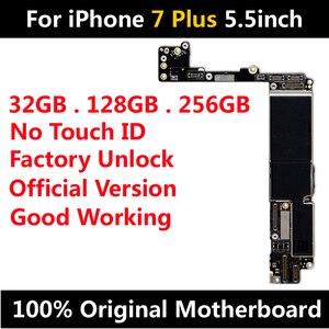Image 2 - האם מקורי עבור iPhone 7 בתוספת 5.5 אינץ מפעל נעילת Mainboard עם/לא מגע מזהה עם שבבי IOS היגיון לוח