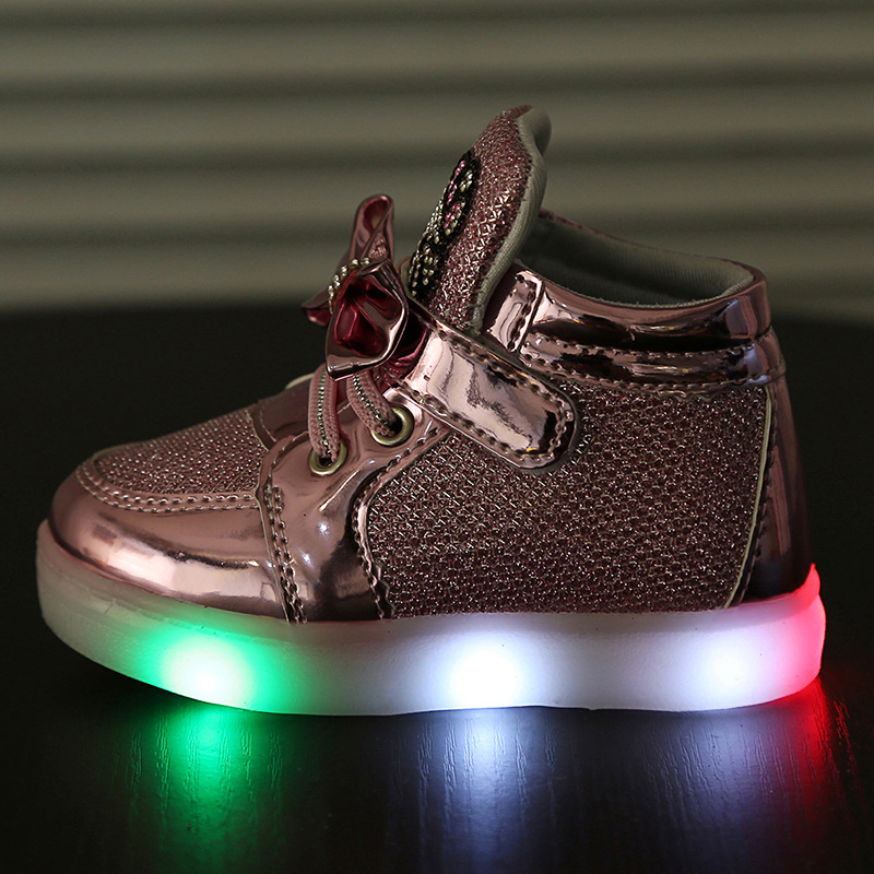 Girls-shoes-baby-Hook-Loop-led-light-shoes-kids-light-up-glowing-sneakers-toddler-Girls-princess - 副本
