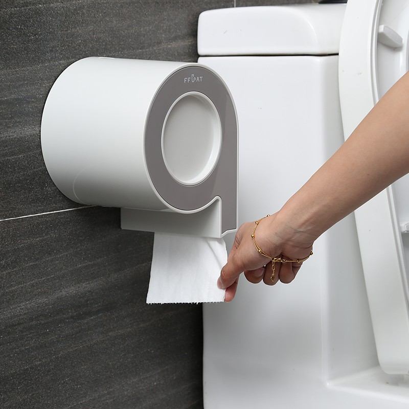 Wall-mounted เนื้อเยื่อกล่องกันน้ำ Hygienic กระดาษสำหรับห้องน้ำกล่องเก็บอุปกรณ์เสริม