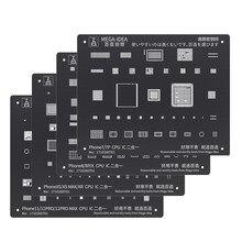 Schwarz Stahl BGA Reballing Stencil Kit für iPhone 11 11Pro XS XS MAX XR X 8P 8 7P 7 6S 6 CPU IC Chip Zinn Pflanzen Löten Net