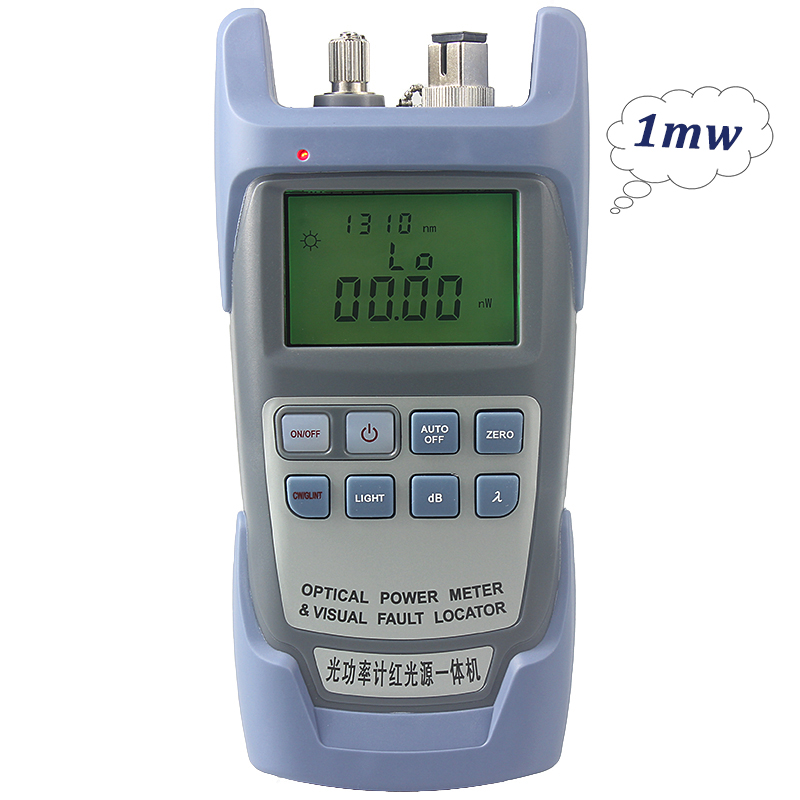 AUA 9 1MW  Laser Power FTTH Fiber Optic Optical Power MeterVisual Fault Locator One Machine Cable Tester Free Shipping