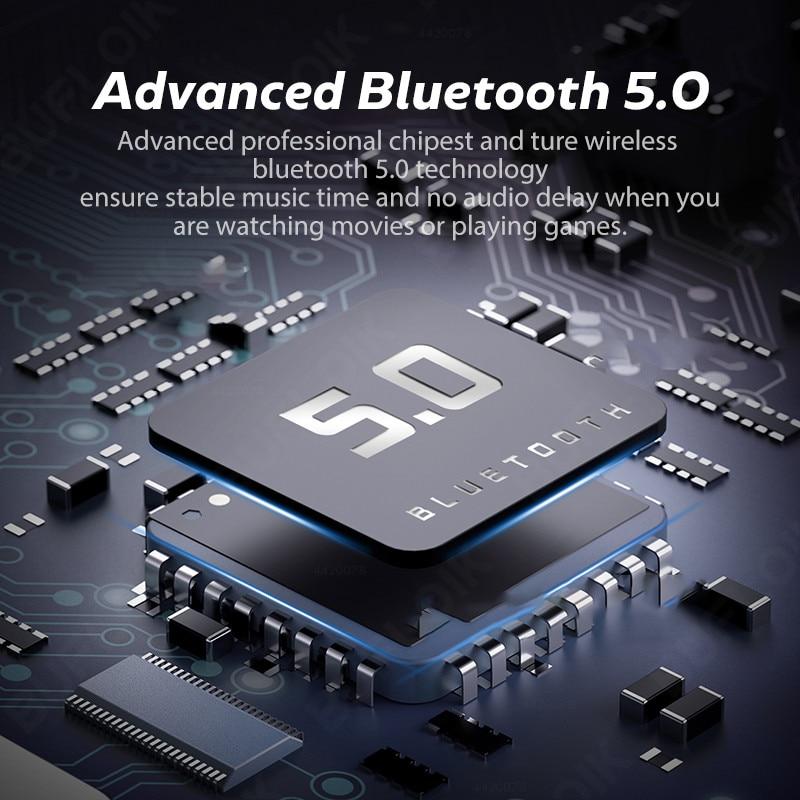 Tws Draadloze Hoofdtelefoon Bluetooth Oortelefoon Ruisonderdrukkende Sport Waterdichte Headset 9D Stereo Draadloze Oordopjes Met Microfoon 4