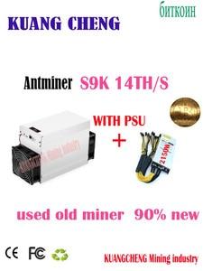 Usato old BTC BCH 7nm Asic Minatore AntMiner S9K 14T CON PSU 2150W Meglio di BITMAIN S9 S9j z9 WhatsMiner M3 M10 in nave stock(China)