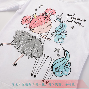 Jumping meters 2020 Unicorn Girls Long Sleeve T shirts 100% Cotton Tops Children Animals Clothing Autumn Spring T shirts Kids 3