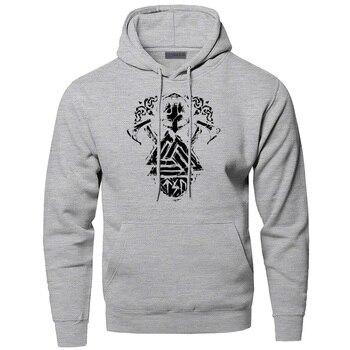 Athelstan Hoodies Men Odin Vikings Sweatshirts Son Of Odin Hooded Sweatshirt Sons Of VikingWinter Autumn Valhalla Sportswear 1