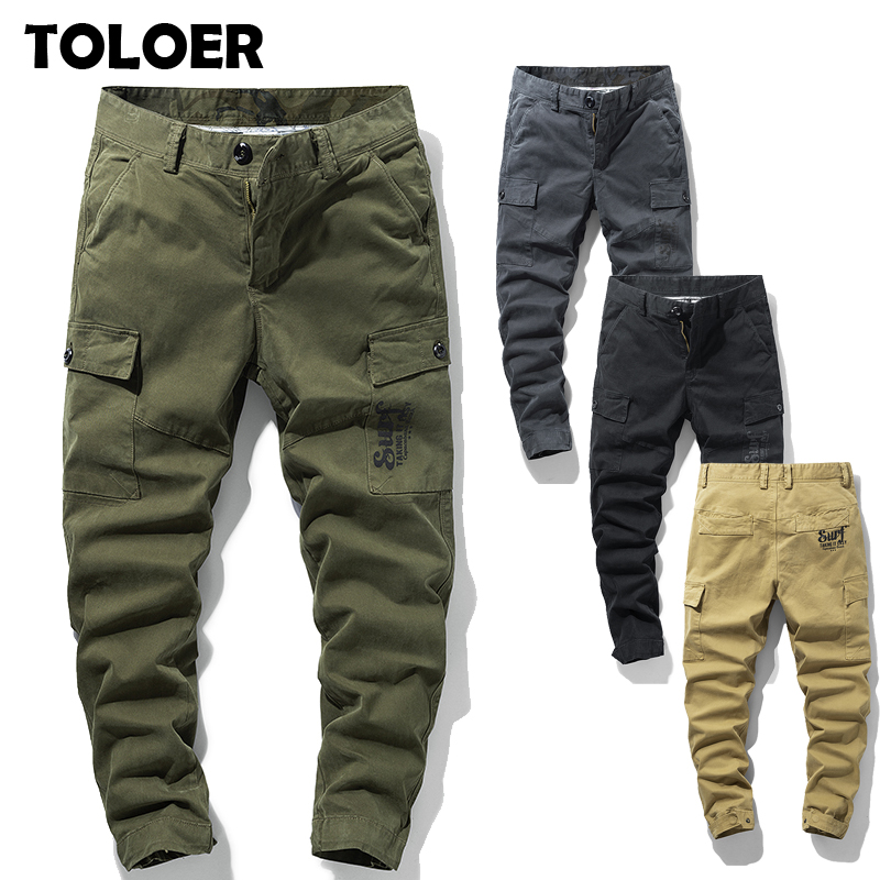 2020 New Arrival Men Military Cargo Pants High Quality Top Fashion Clothing Solid Mens Tactical Pants Cotton Men Jogger Trousers