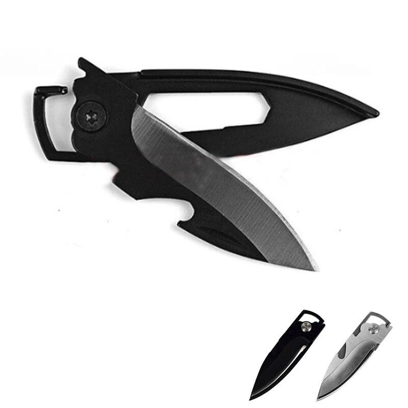 1pcs Multifunctional EDC Knife Outdoor Self Defense Mini Keychain Multi Tool Key Pocket Letter Camp Pare Peeler Peel Parcel Open