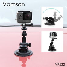 Vamson עבור ללכת פרו גיבור 8 7 6 5 + 9CM קוטר רכב יניקה כוס חצובה בסיס הר עבור gopro אביזרי עבור SJ4000 לxiaomi VP522
