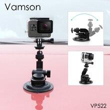 Vamson for go pro hero 8 7 6 5 + 9 cm 직경 자동차 흡입 컵 삼각대베이스 마운트 gopro 액세서리 for sj4000 for xiaomi vp522