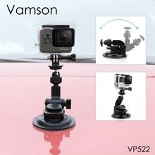 Vamson git Pro Hero 8 7 6 5 + 9CM çapı araba vantuz Tripod tabanı montaj gopro aksesuarları için SJ4000 Xiaomi VP522