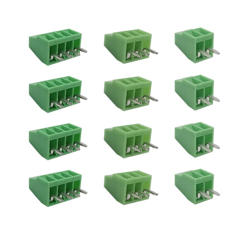 """2-4PIN 2.54mm(0.1 """") Pitch PCB uniwersalna śruba skynka zaciskowa płyta do złącza przewodu KF120-2.54-2P-3P-4P prosty Pin terminale"""