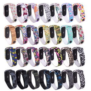 for Mi Band 4 Strap Replacement Bracelet for Xiaomi Miband 3 4 Universal Silicone Wrist Strap Colorful Flowers For Mi3 Belt