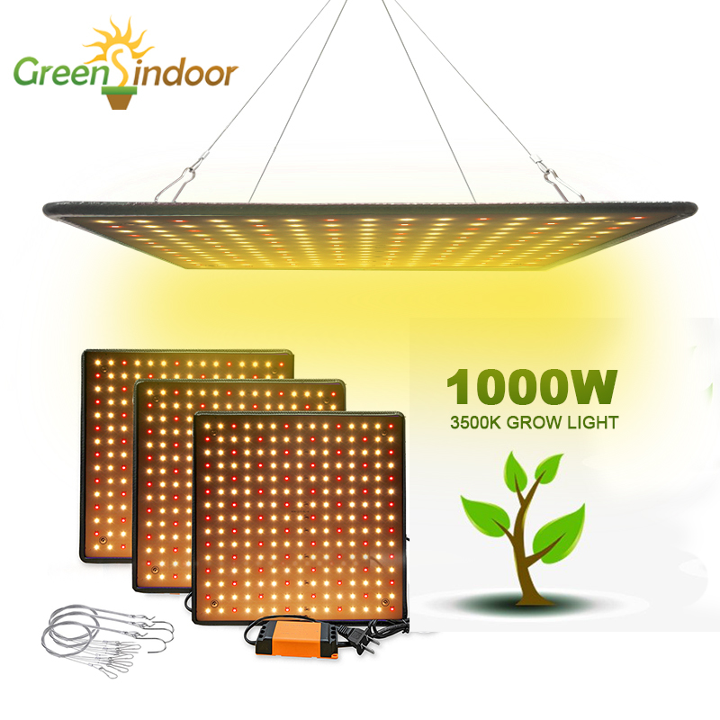 Grow Tent 1000W Grow Light Panel 3500K Phyto Lamp Full Spectrum Indoor Led Lamp For Plants Warm White Leds Fitolamp Bloom Veg
