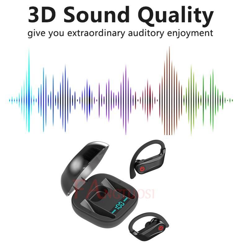 FANGTUOSI Новые беспроводные Bluetooth наушники HBQ PRO TWS стерео гарнитура водонепроницаемые наушники-Крючки с микрофоном для samsung