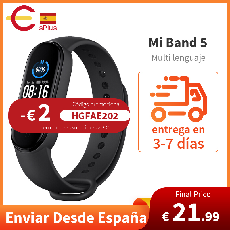 Bracelet intelligent Original Xiaomi Mi bande 5 4 couleurs AMOLED écran Miband 5 Smartband Fitness Traker Bluetooth bande intelligente