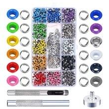 Grommet-Kit Shoe-Clothes Metal for Bag DIY Projects Multi-Color 480sets 3/16inch