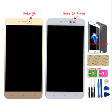 купить Touch Screen Glass + LCD Display Assembly For Xiaomi Redmi Note 5A MDG6 / Redmi Note 5A Prime MDG6S LCD Display Digitizer Sensor по цене 1015.4 рублей